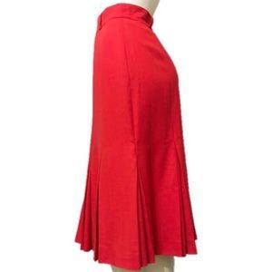 Escada by Margaretha Ley   Red Pleated Skirt Sz-10